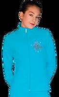 ChloeNoel JT811 Solid  Fleece Fitted  Elite Jacket w/ Mini Fuchsia Ribbon Crystals Combination