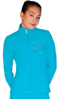 ChloeNoel JT811 Solid  Fleece Fitted  Elite Jacket w/ Mini Sit Spin Crystals Combination