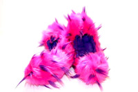 Figure Skating Fuzzy Soakers -CF02P - Hot Pink and Purple Crazy Fur