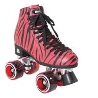 Riedell Quad Roller Skates - Ivy Red Zebra
