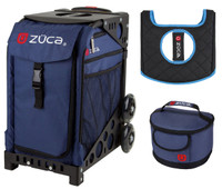Zuca Sport Bag -Midnight with Gift Lunchbox and Seat Cover (Black Frame)