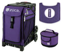 Zuca Sport Bag - Rebel with Gift Lunchbox and Seat Cover (Black Non-Flashing Wheels  Frame)
