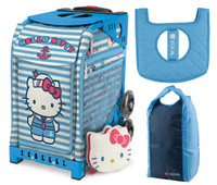 Zuca Sport Bag -  Hello Kitty Sail with Me with Gift Stuff Sack and Seat Cover (Blue Frame)