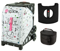 Zuca Sport Bag - SK8 with Gift Lunchbox and Seat Cover (Black Non-Flashing Wheels  Frame)