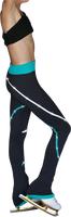 ChloeNoel P618F 2-Tone Piping Light Weight Fleece Pants with matching Swarovski crystals
