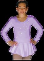 ChloeNoel DLP728 Plain Solid Sanded Poly Spandex Dress Light Lilac w/ Snow Flakes