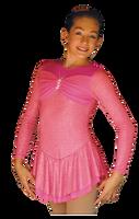ChloeNoel DLS788 Cinderella Swirls Sparkle Spandex w/ Mesh Dress