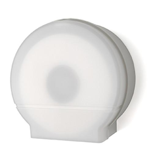 "Palmer Fixture Single 9"" Jumbo Tissue Dispenser - White Translucent"