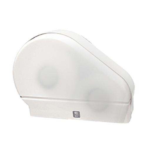 "Palmer Fixture Single 9"" Jumbo Tissue Dispenser with Stub Roll - White Translucent"