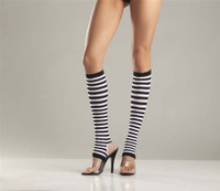 Striped Stirrup Knee Highs