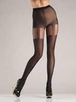 Faux Suspender Thigh High Pantyhose
