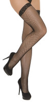 Lace Top Fishnet Thigh High Stockings