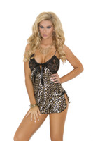 Leopard and Lace Chemise