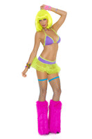 Neon Nites Halter Bra and Tutu Skirt