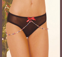 Mesh Panty with Beads