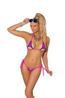 Neon Blue and Pink Bikini