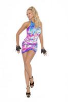 Neon Tie Dye Mini Dress
