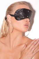 Leather Studded Blindfold