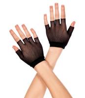 Wrist Length Fishnet Gloves