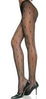 Diamond Net Pantyhose with Stars
