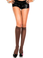 Opaque Turnover Knee Highs