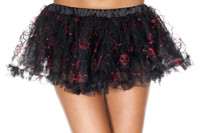 Skull and Crossbone Print Petticoat