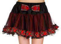 Mesh and Plaid Petticoat