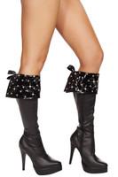 Rhinestone Studded Boot Cuffs