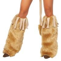 Fringe & Fur Leg Warmers