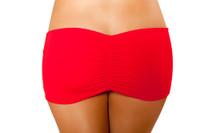 Pucker Back Mini Skirt