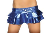 Metallic Double Layer Micro Mini Skirt