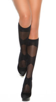 Sheer Criss Cross Knee Highs