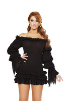 Ruffled Off the Shoulder Pirate Dress
