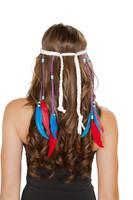 White Indian Headband