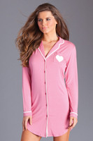 Collared Long Sleeve Nightshirt