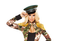 Green Military Hat