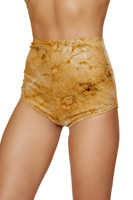 Brown Tie Dye Suede High Waisted Shorts