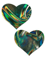 Iridescent Green Heart Pasties