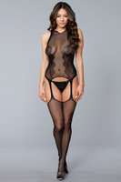 Lace and Fishnet Suspender Bodystocking