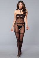 Faux Cami-Garter and Thigh Highs Bodystocking