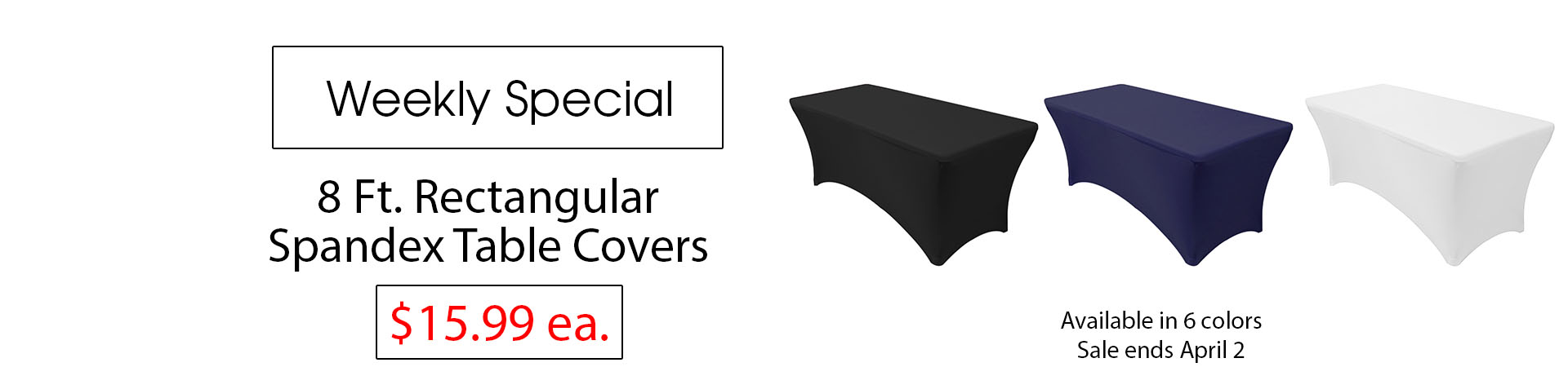 spandex table covers 8 ft rectangular