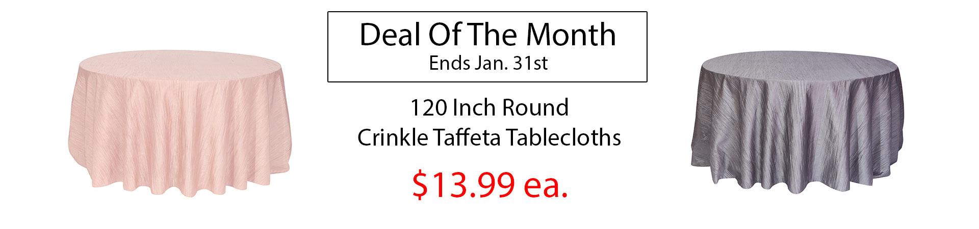 crinkle tablecloths