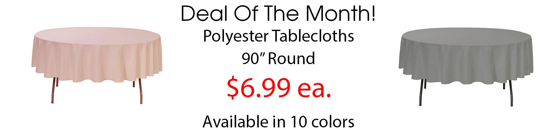 polyester 90 inch round
