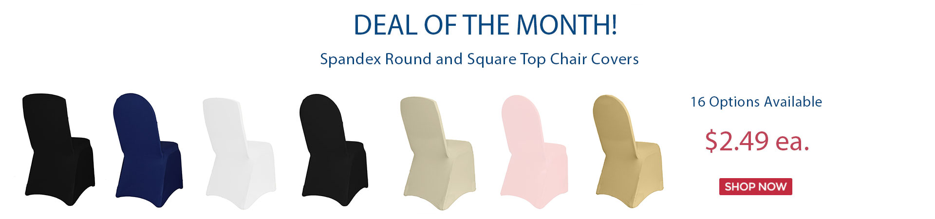 deal of the month chair covers