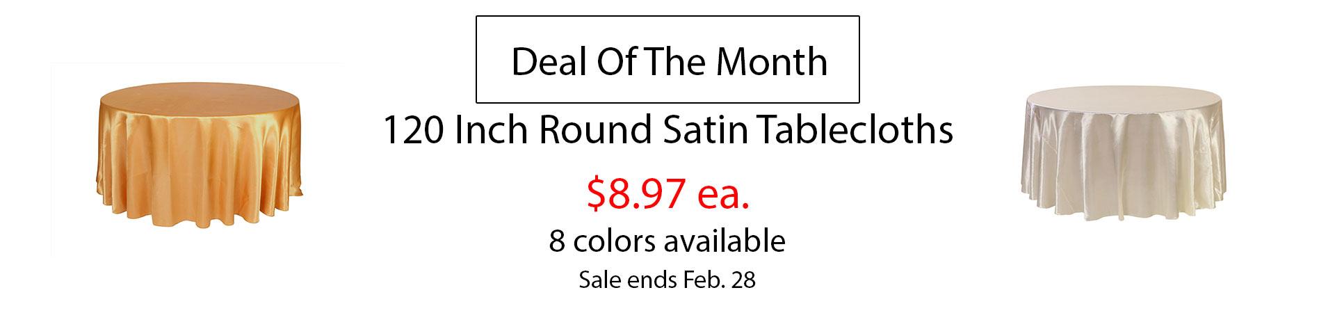 satin tablecloths