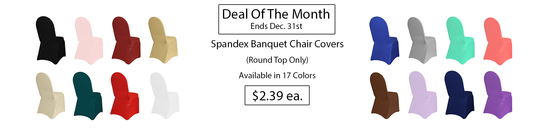 spandex chair covers deal of the month