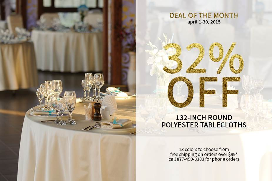 132 Inch Round Polyester Tablecloths