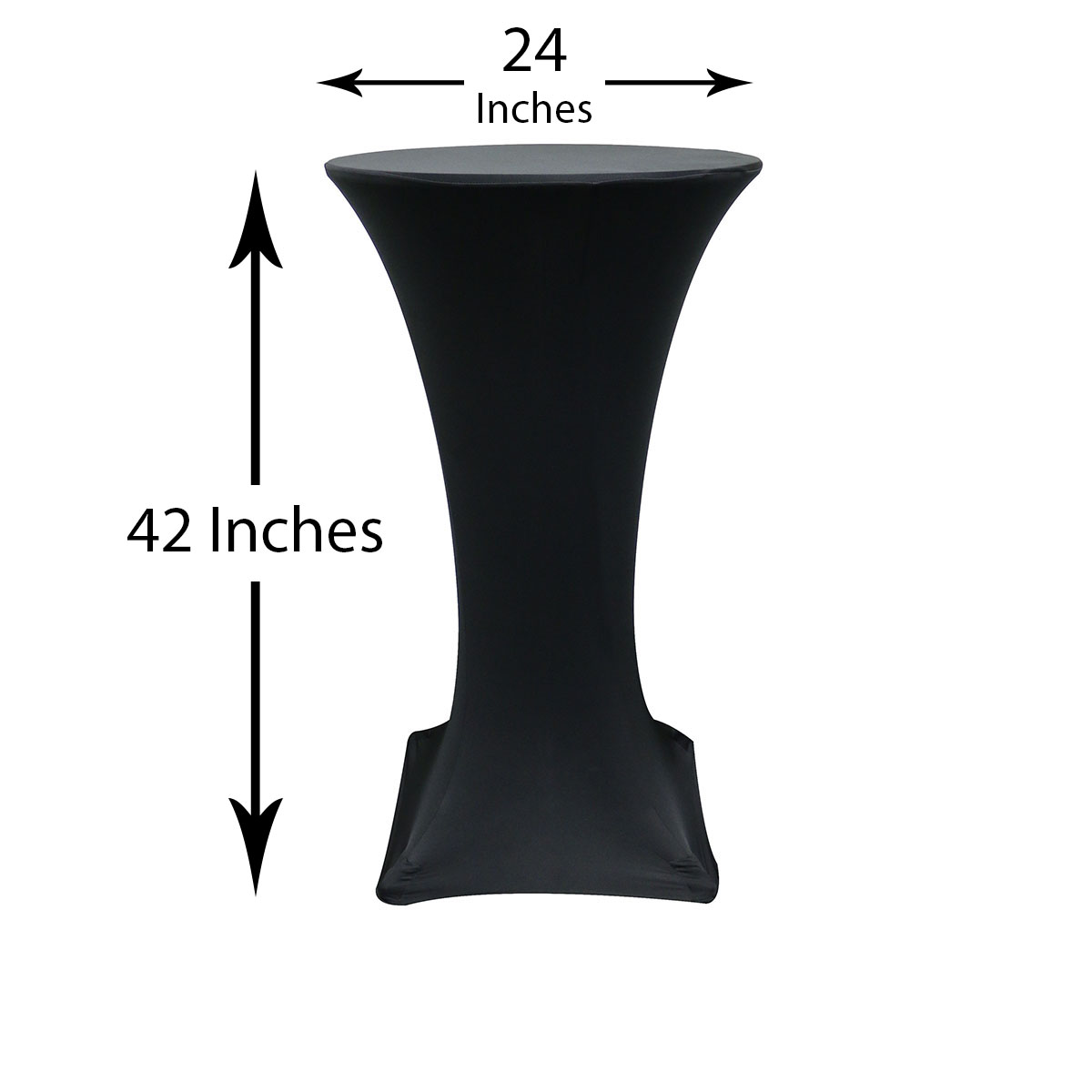 24 Inch Highboy Cocktail Spandex Table Covers Black  ...