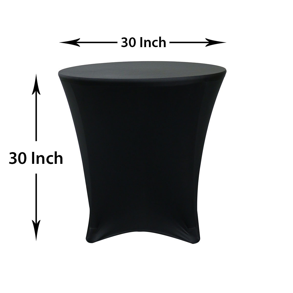 30 x 30 inch round spandex highboy cocktail table covers for Cocktail tables measurements