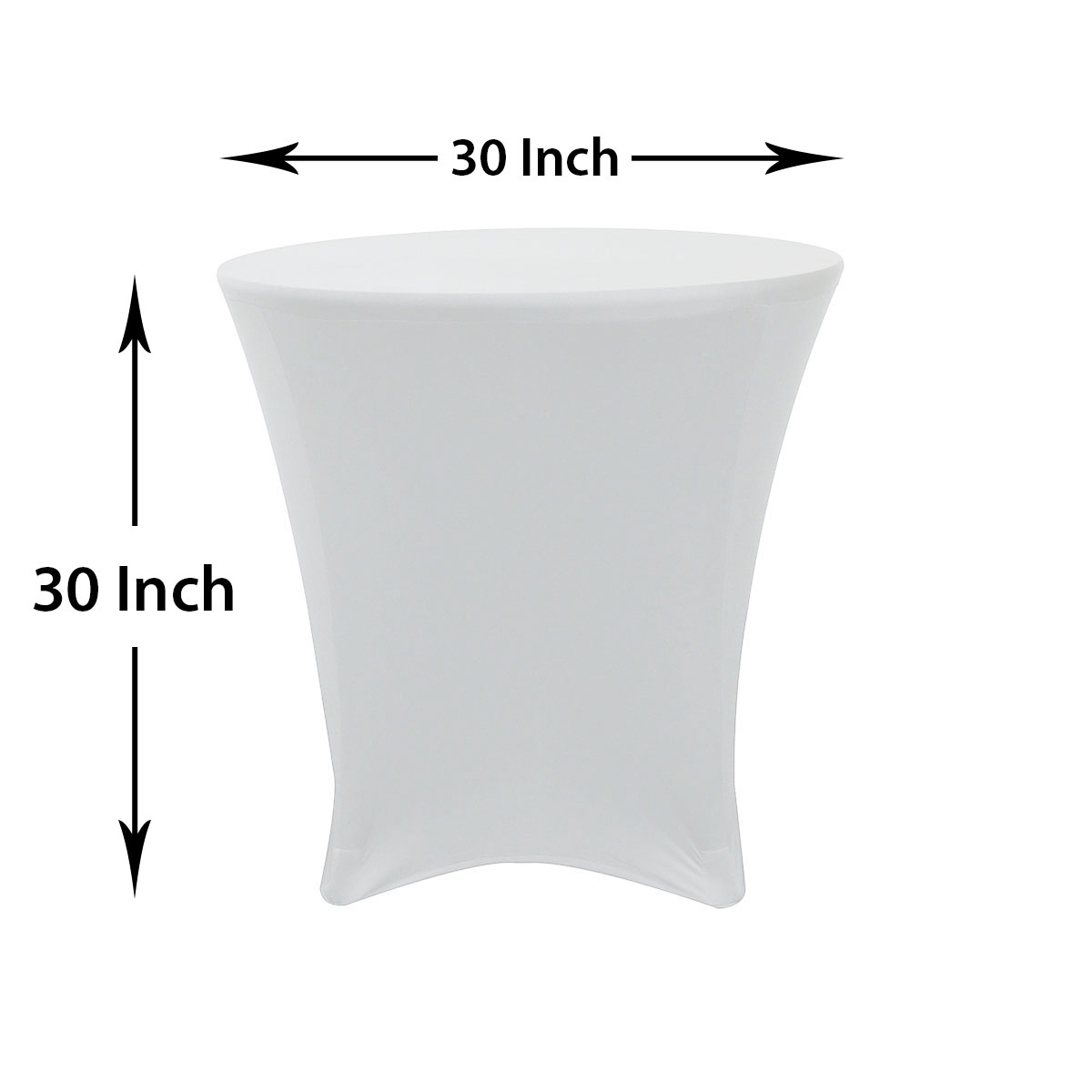 White round tablecloths cheap -  30 30 Inch Lowboy Cocktail Spandex Table Covers